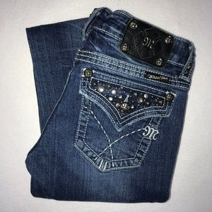 Miss Me Embellished Studded Bootcut Jeans 27 33